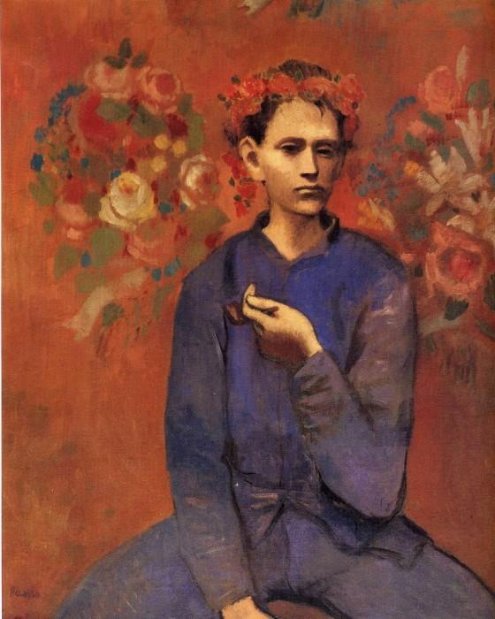 Пабло Пикассо «Мальчик с трубкой.»