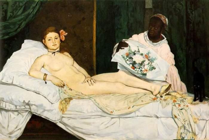 «Олимпия», 1863, Эдуард Мане.