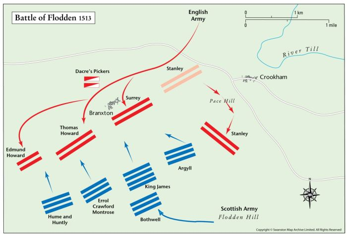 Карта битвы.