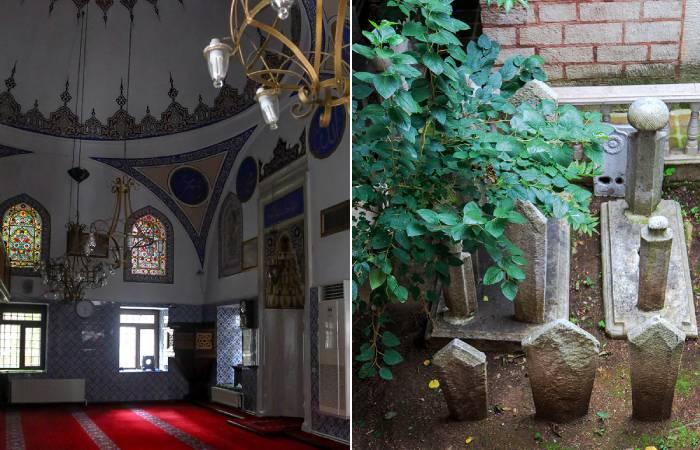 Интерьер и дворовая территория Мечети летающего гроба
