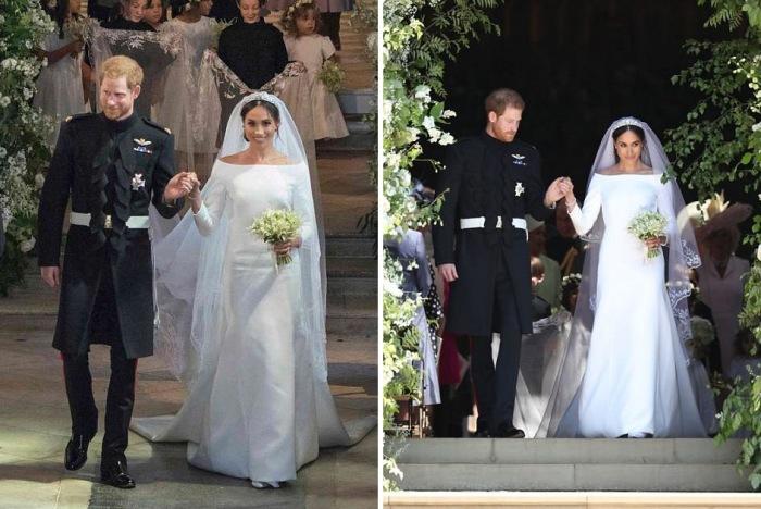 Под фатой невесты - подарок королевы-матери.