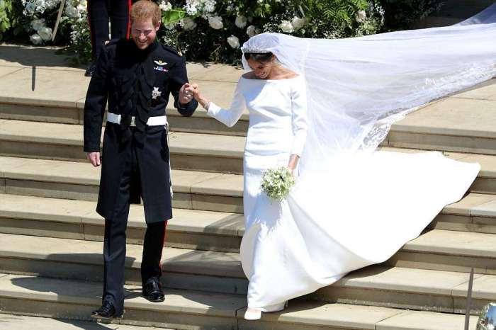 Меган выбрала фасон платья в стиле Одри Хепбер, но отказалась от бисера.