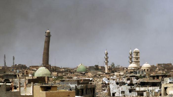 Минарет Соборной мечети Аль-Нури. Мосул, Ирак .