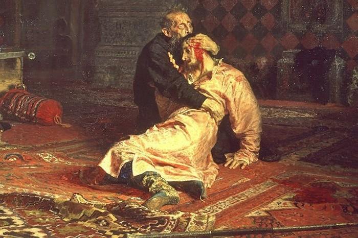 «Иван Грозный убивает своего сына» Художник: Илья Репин.