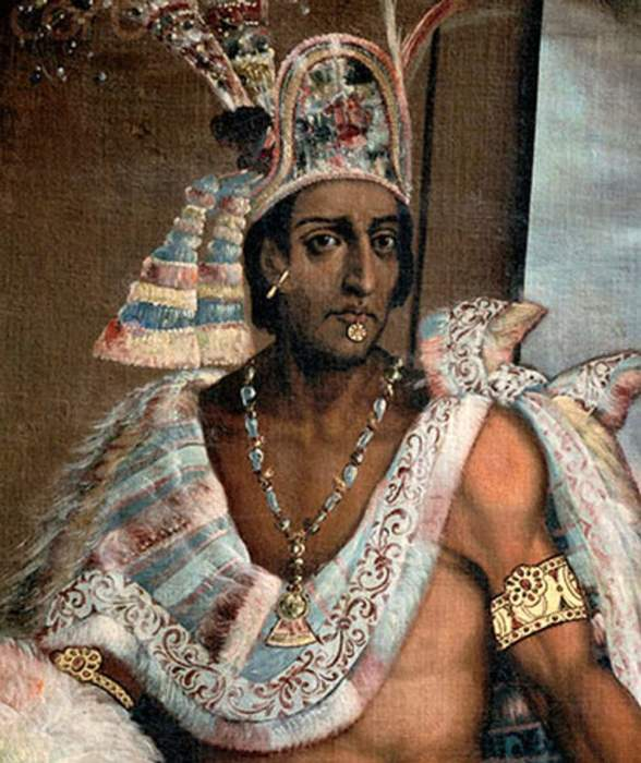 Последний император ацтеков Монтесума II.