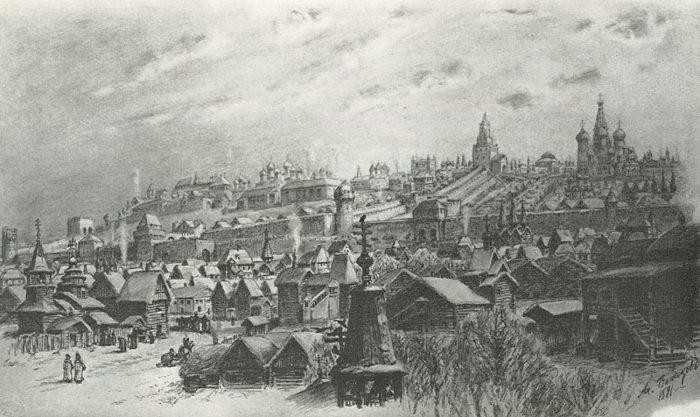 Москва XVI века.
