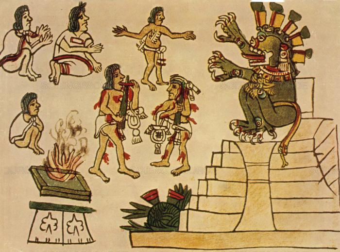 Даже несмотря на то, что Миктлантекутли был богом, его рисовали с телом, покрытым язвами.