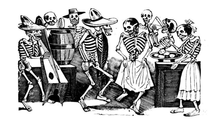 Гравировки Хосе Гвадалупе Посады - это напоминание о том, как человек, несмотря на его желание жить, всегда сталкивается со своей собственной смертью.