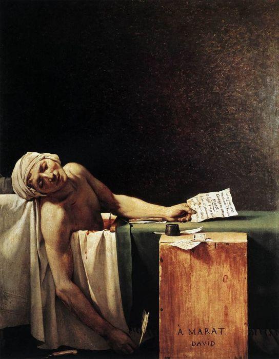 Смерть Марата (1793). Жак-Луи Давид