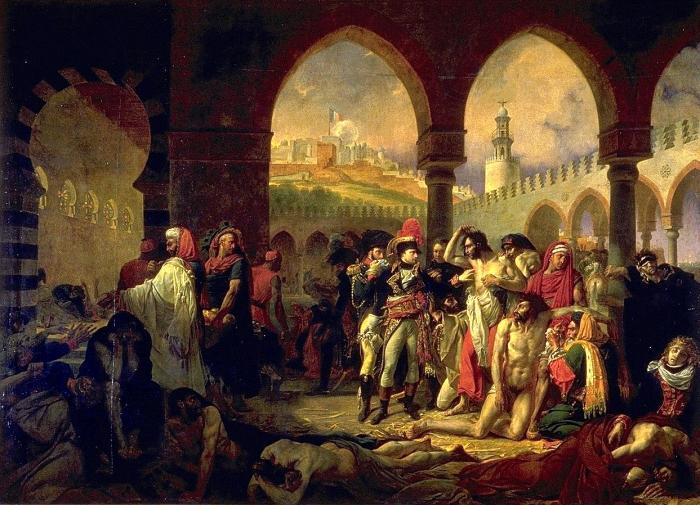 Бонапарт возле больных чумой в Яффо (1804). Антуан-Жан Гро