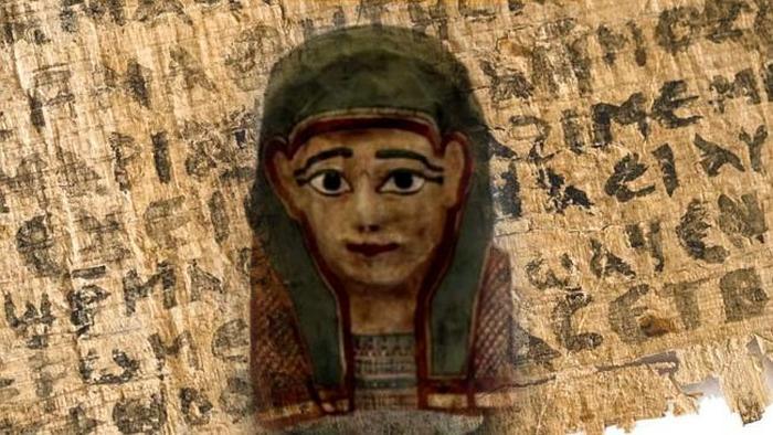 Самое древнее Евангилие найдено в маске мумии.