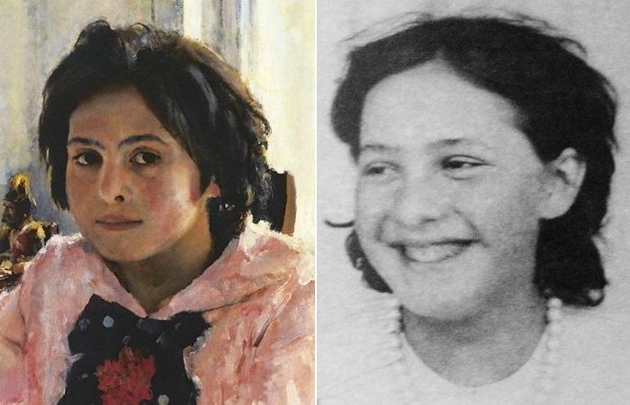 Вера Мамонтова и она же на картине «Девочка с персиками».