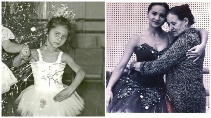 Юная балерина Нелли Карим с мамой.