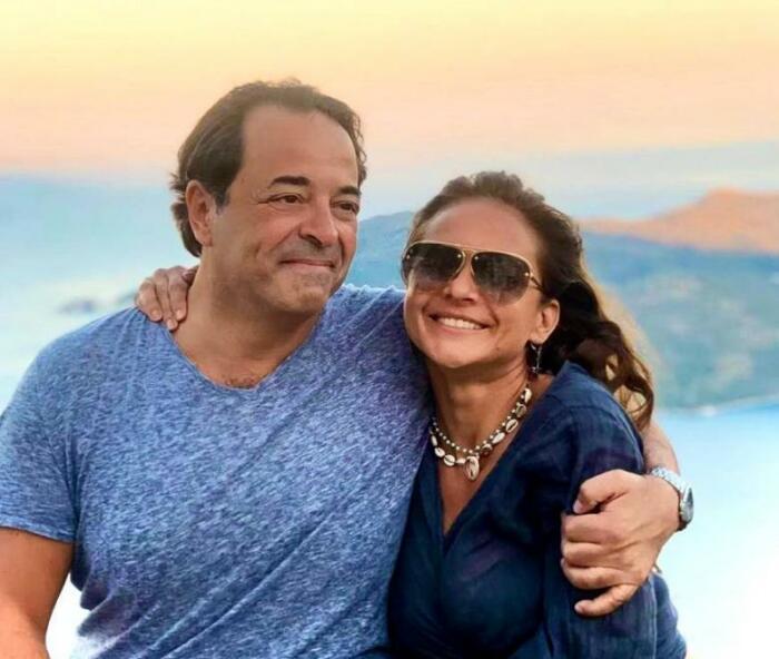 Актриса Нелли Карим и ее жених бизнесмен Омар Ислам.