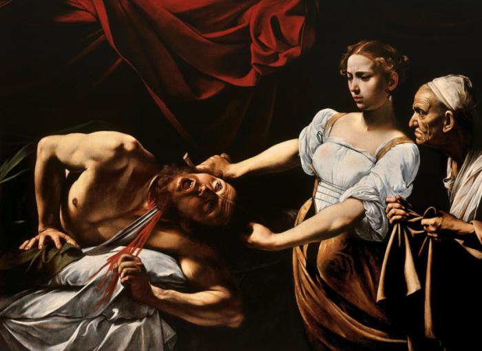 Юдифь и Олоферн (1599) Микеланджело да Караваджо.