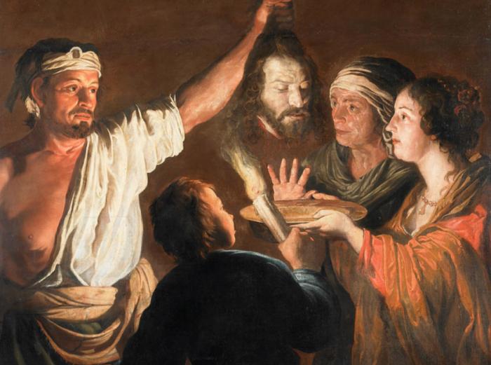 Палач с головой Иоанна Крестителя (1640-1646) Уильям Добсон
