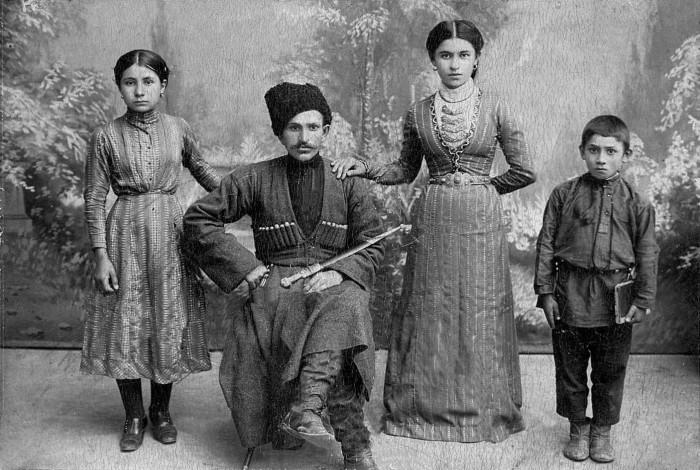 Осетинская семья.