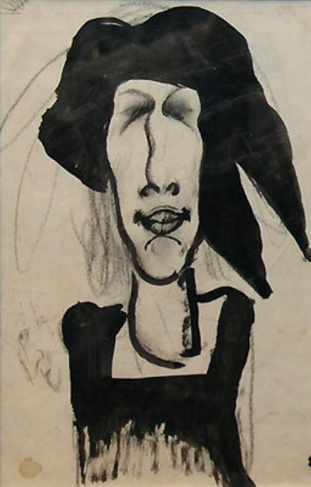Паллада Богданова-Бельская. Неизвестный художник. 1910. Музей Ахматовой в Фонтанном доме