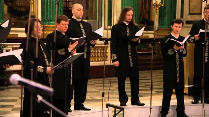 Поёт хор Валаамского монастыря.