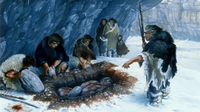 У неандертальцев существовали похоронные обряды.