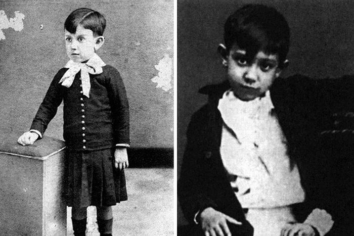 Пабло  Пикассо в детстве.