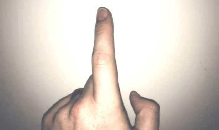 И палец на память.