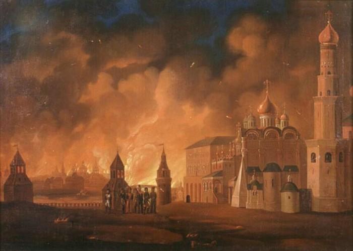 Пожар в Москве 1812 года.