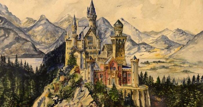 Замок Нойшванштайн. Адольф Гитлер.