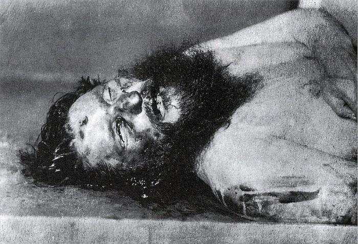 Григорий Распутин после смерти.