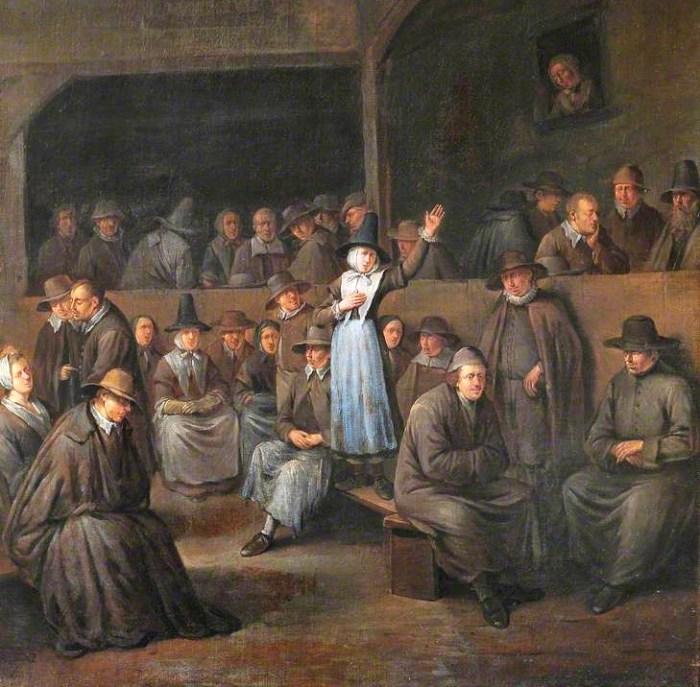 «Квакерское собрание». Эгберт ван Хемскерк (старший). II половина XVII века.