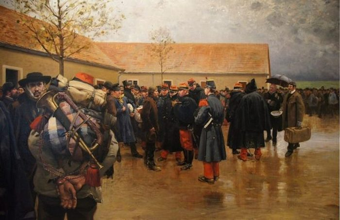 «Резервисты» Пьер-Жоржа Жаннио, 1870 (скан оригинальной картины)