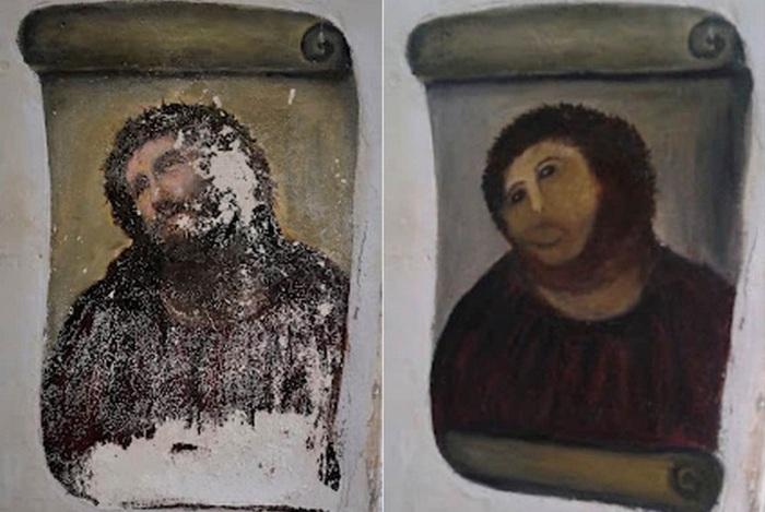 «Пушистый Иисус» - позор реставратора.