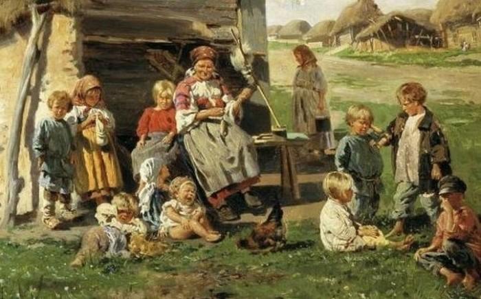 Детей в русских семьях было много.
