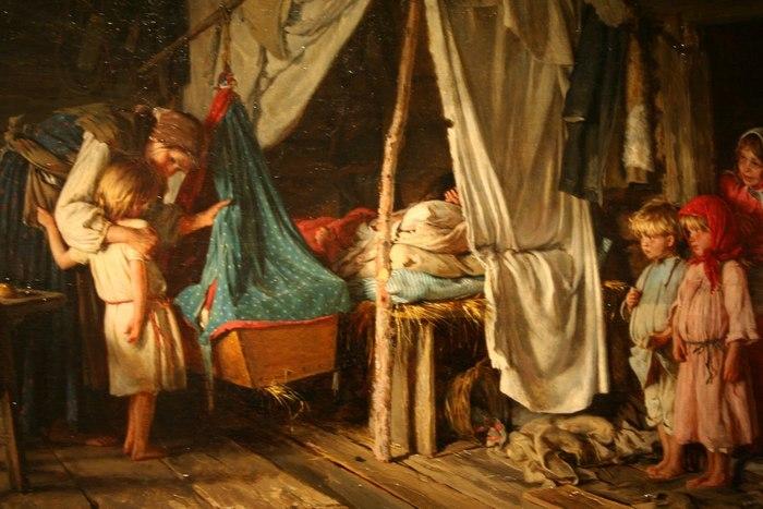 Рождение малыша и в старину было радостным событием.