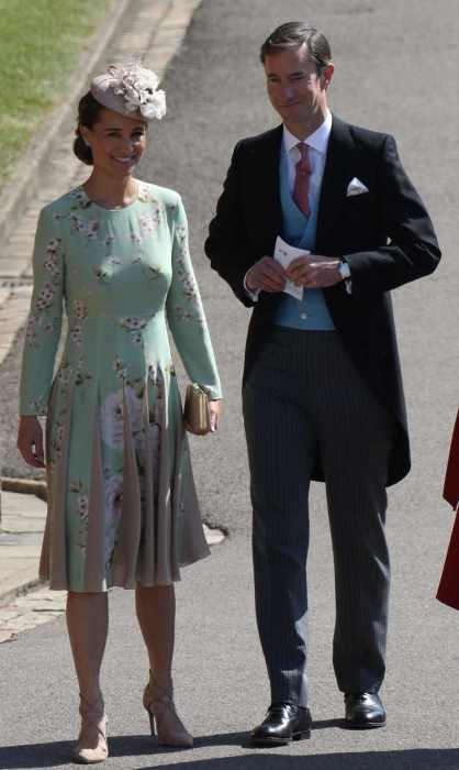 Grávida Pippa Middleton e seu marido James.