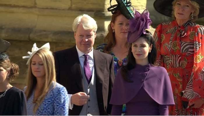 Tio Harry Earl Spencer e sua esposa chegaram em Windsor pela manhã.