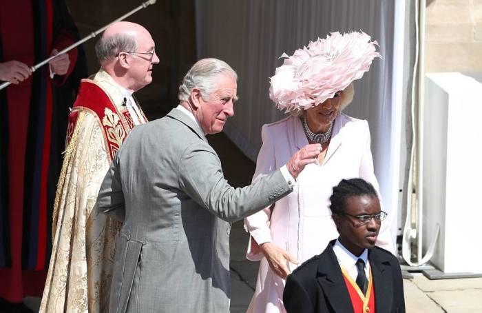 Príncipe de Gales e sua esposa, duquesa de Cornish Camilla.
