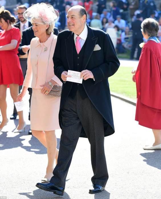 O deputado Nicholas Soames, neto de Winston Churchill e sua esposa.