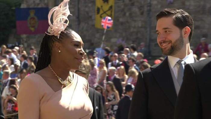 Звезда тенниса Серена Уильямс и ее муж Алексис Оганян.