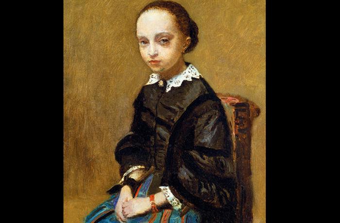 «Портрет девушки» французского художника XIX века Жан-Батиста