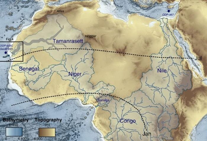 Потерянная река в пустыне Сахара.