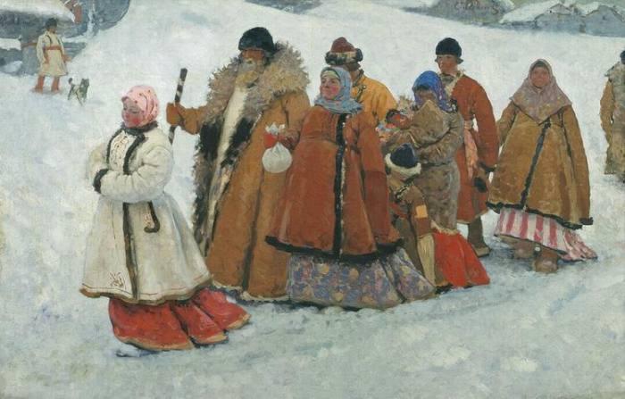 Семья. Художник Сергей Иванов. 1907 г.