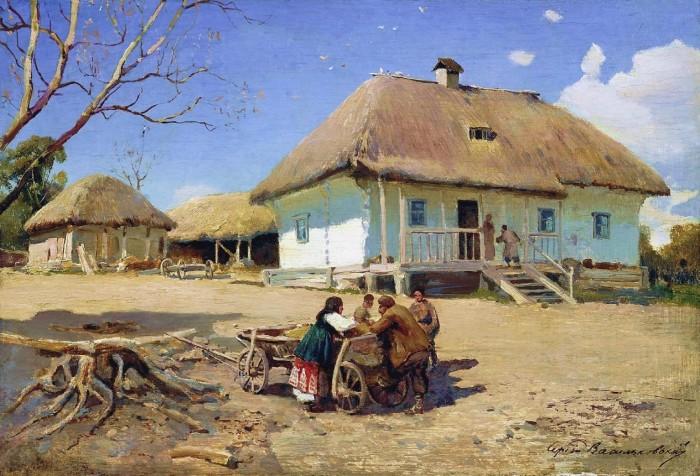 Сергей Васильковский. В казачьей деревне.