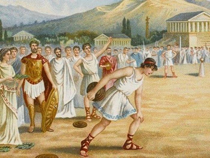 Тренировки юных спартанцев.