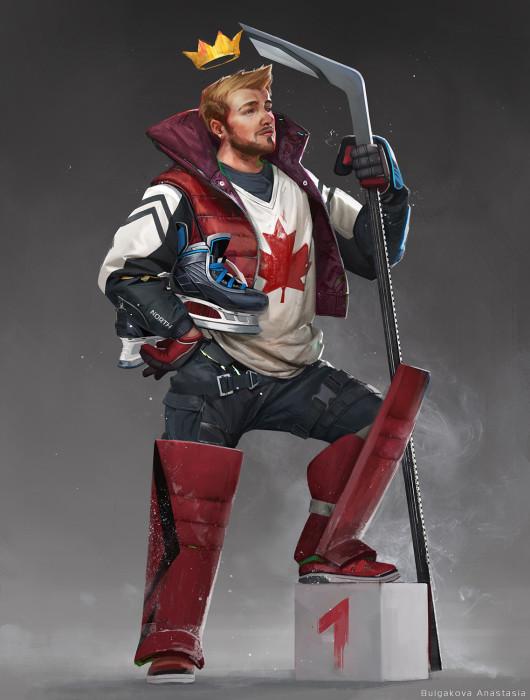 Канада - наиболее миролюбивый *воин* среди всех. Он предпочитает сражаться не за кровь, а за медали.