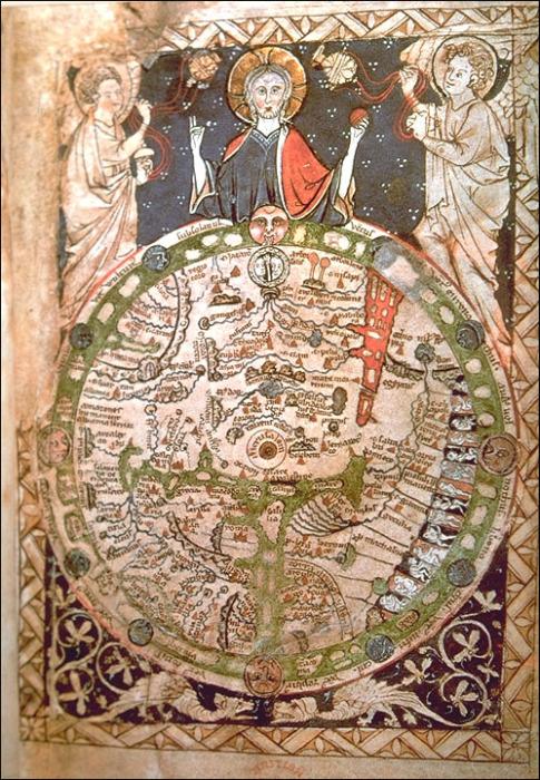 Карта Мира-Пслатырь 1265 год.