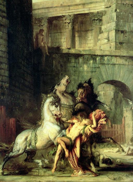«Диомед, пожираемый конями». Гюстав Моро