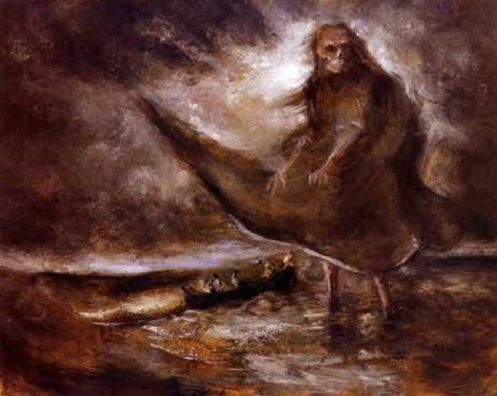 «Водяной призрак». Альфред Кубин.