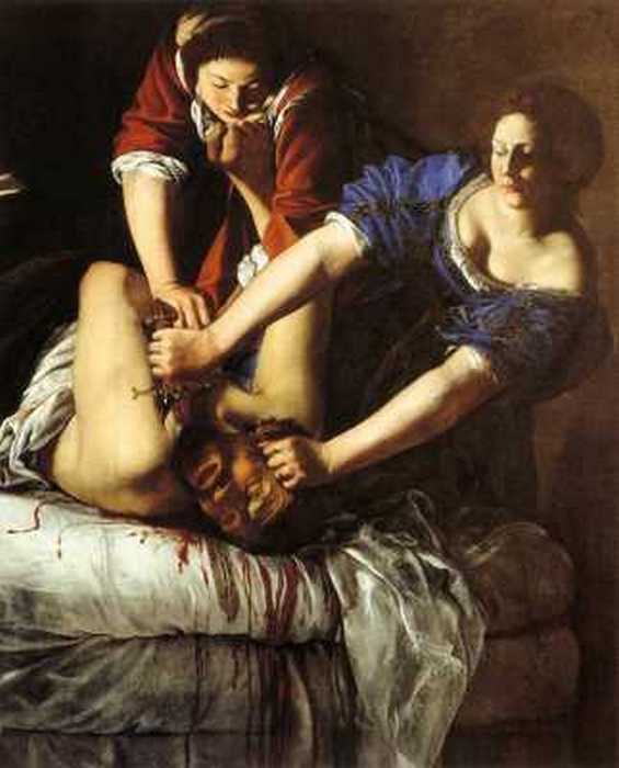 «Юдифь, обезглавливающая Олоферна». Артемизия Джентилески