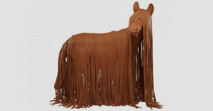 Кожаная лошадь Hermes